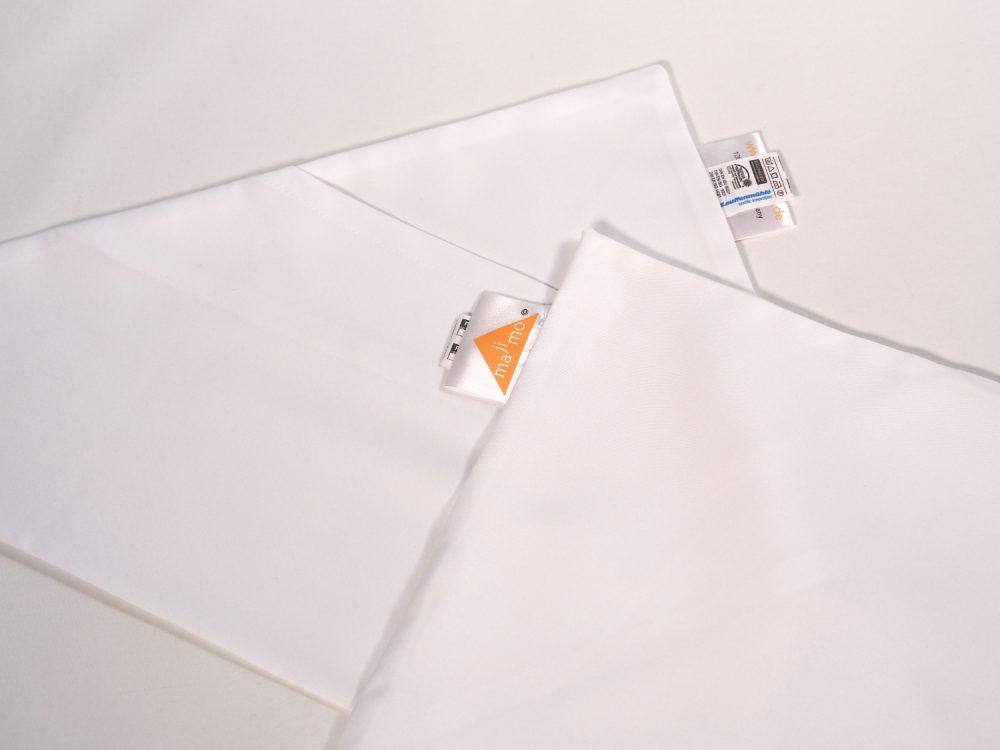 Gr.M | 2 x dreieckige kochfeste majimo Kissenbezüge in einer Packung